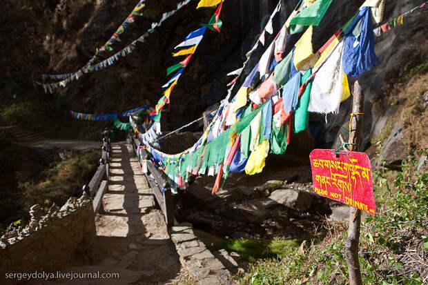28) По преданию этот монастырь был основан в 8-ом веке самим Падмасамбхавой (основатель тибетского буддизма), который перенесся сюда, сидя на тигрице. В этом месте также медитировали многие великие буддистские учителя и короли. Считается, что у этого места необыкновенная энергетика, хотя я ничего кроме усталости не почувствовал. Тем не менее, проводники сказали, что это восхождение нам сторицей зачтется в следующей жизни.