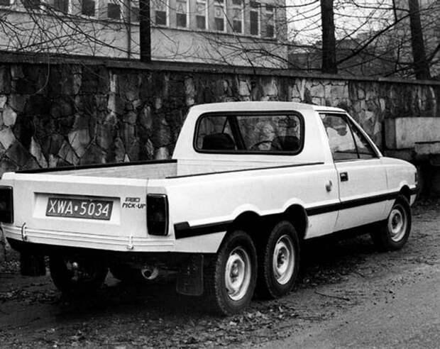 Задолго до G63 AMG 6x6. Польский трехосный пикап FSO Polonez Pick-up trzyosiowy