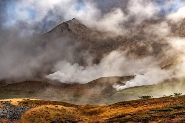 Фумаролы горы Асахи-Дейк