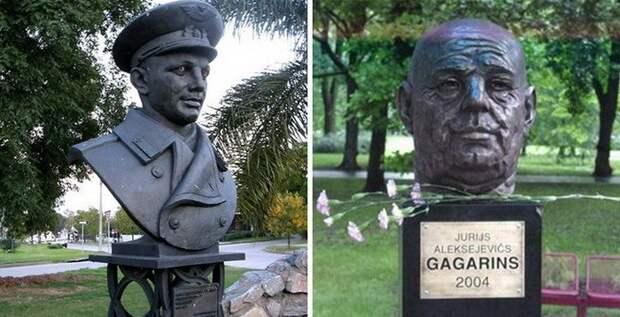 20. Памятник Гагарину в Уругвае и постаревший Юриус в Риге памятники, ссср