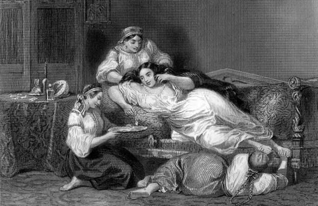 "Ф. Лакруа ""Русская помещица"" (1840 г)."