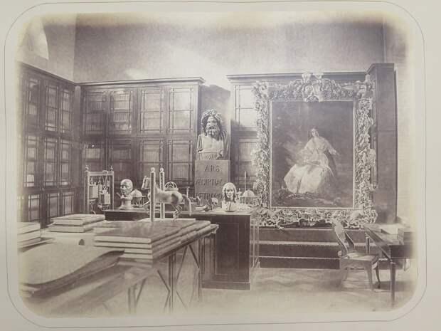 Строгановский дворец. Интерьер библиотеки №2 графа С.Г.Строганова (прежний физический кабинет)