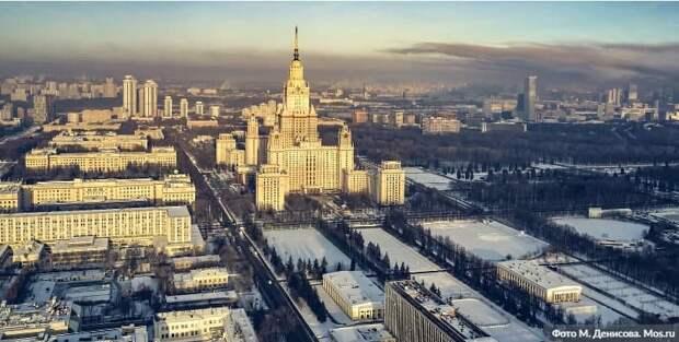 Собянин объявил о начале строительства ИНТЦ МГУ «Воробьевы горы». Фото: М.Денисов, mos.ru