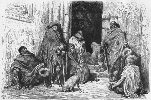 Бродяги и нищие в Средние века 14