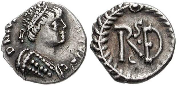 Монета с изображением Витигеса.