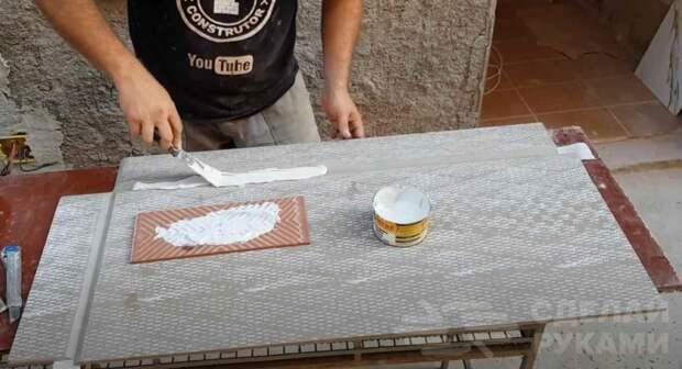 Как сделать полку под раковину своими руками из керамогранита