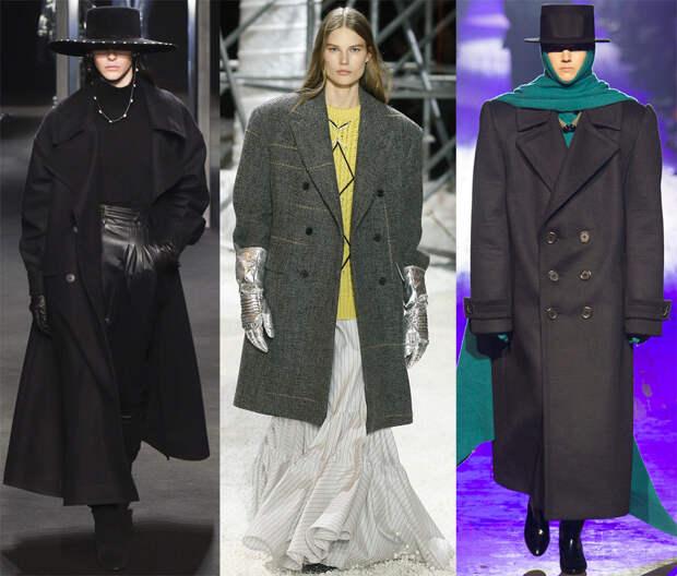 Женские пальто в стиле оверсайз