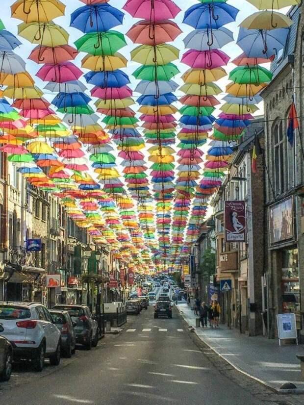 Зонтики на улице