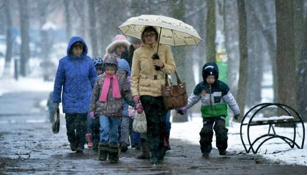 Облачная погода и небольшие осадки ожидаются в Подольске в понедельник