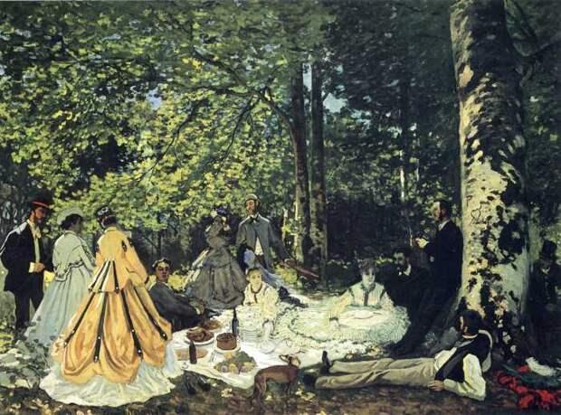 Ранняя версия Завтрак на траве, Клод Моне, 1866 год. \ Фото: muzei-mira.com.