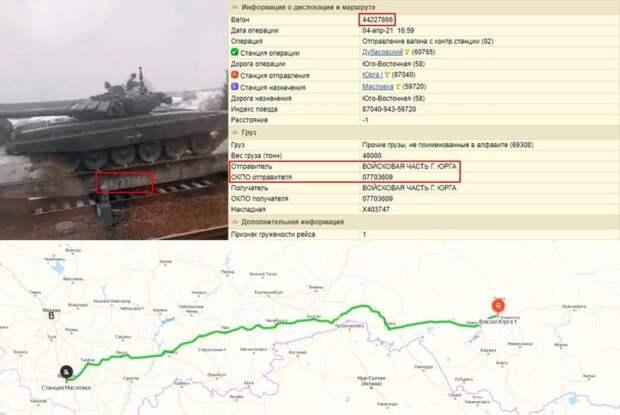 Танки из Сибири идут к украинской границе
