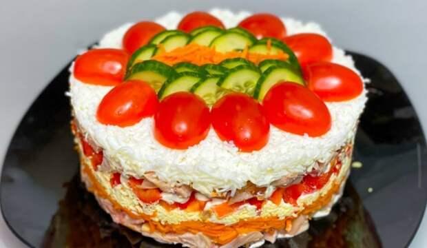 Салат на любой праздничный стол! Оригинальное сочетание продуктов