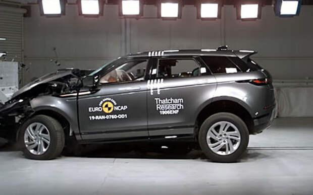 Range Rover Evoque разбился на пять звезд