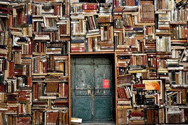 Книг, Полки, Дверь, Вход, Библиотеки, Знаний, Мудрость