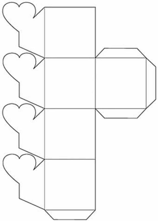 схема подарочной упаковкм Четырехлистник