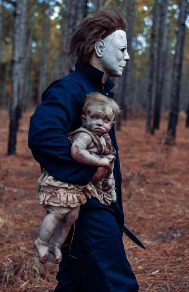 Женщина «зомбировала» свою дочь ради фотосессии, ито, что получилось витоге, вызывает ужас
