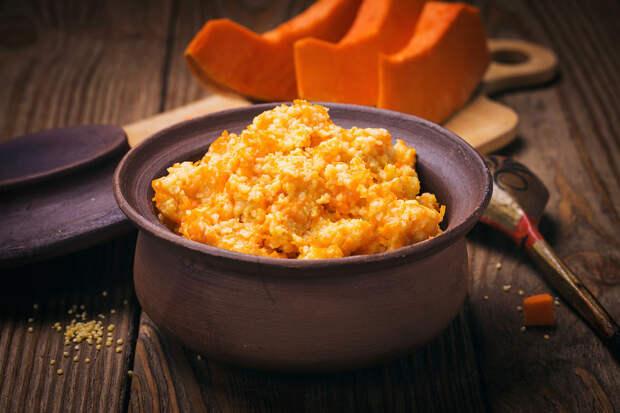 Вкуснейшая рисовая каша с тыквой