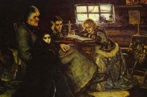 Картина В. И. Сурикова «Меншиков в Берёзове» (1883).
