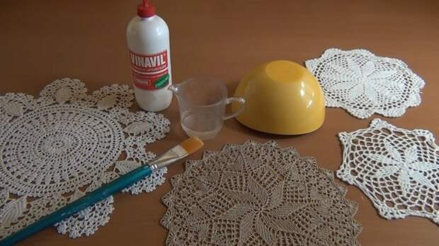 Нетривиальное использование ажурных салфеток для декора