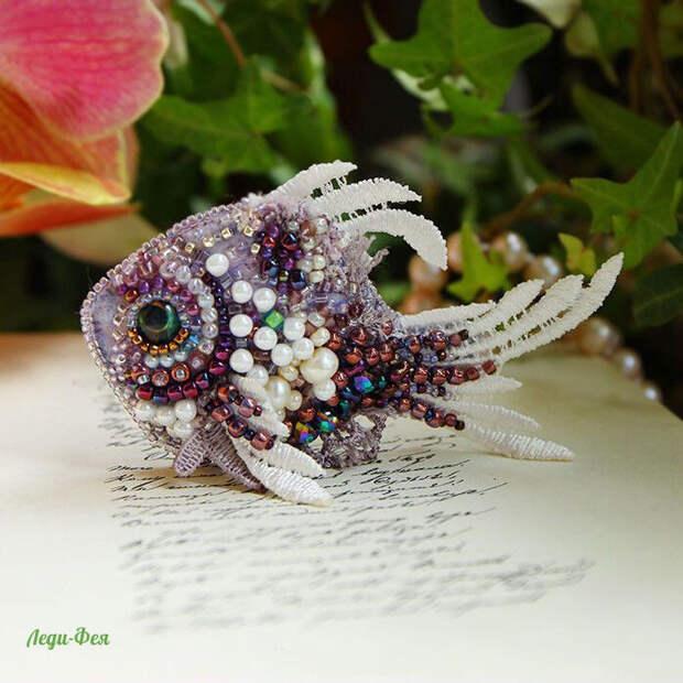 Какие замечательные брошки - рыбки