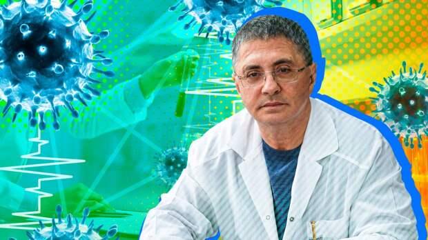 Теледоктор Мясников назвал вакцинацию естественным «бронежилетом» от COVID-19