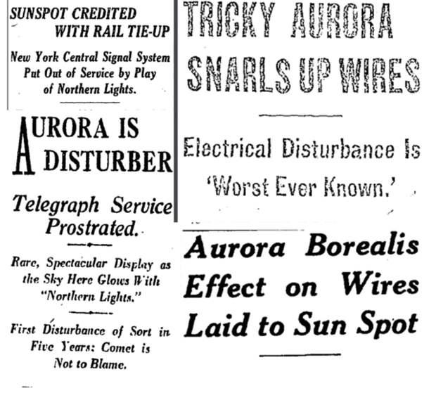 99 лет назад случилась одна из сильнейших геомагнитных бурь в истории Земли