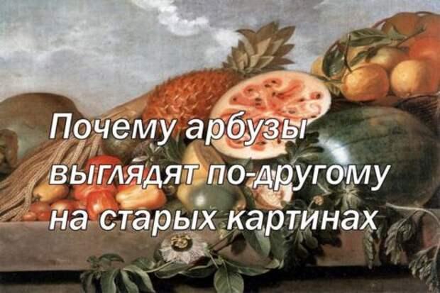Почему арбузы выглядят по-другому на старых картинах
