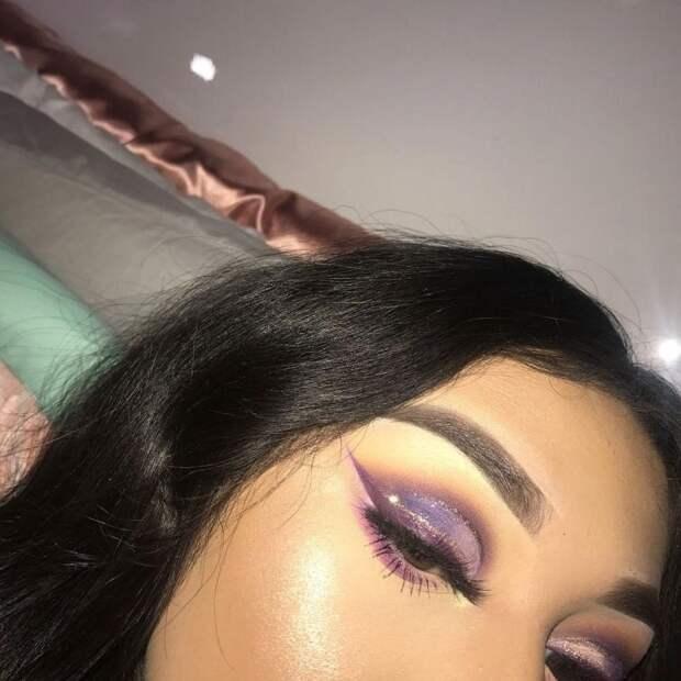 Макияж глаз в фиолетовых тонах