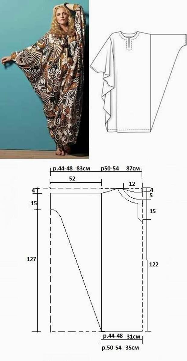 Выкройка бохо платья