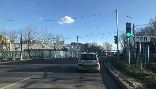 Светофор отремонтировали на улице Правды в Подольске