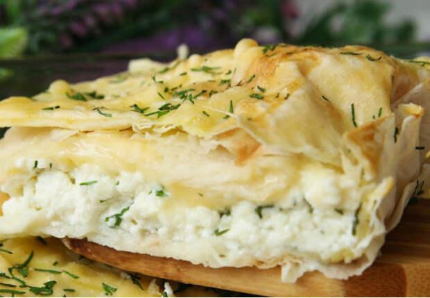 Лаваш стал пирогом: смешали сыр и творог как в хачапури