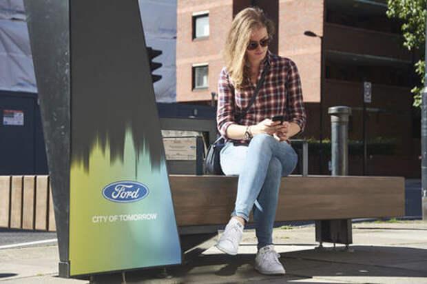 Новый бизнес Ford – «умные» скамейки