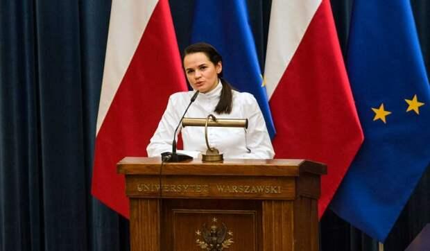 Тихановская назвала Лукашенко главным тунеядцем Белоруссии