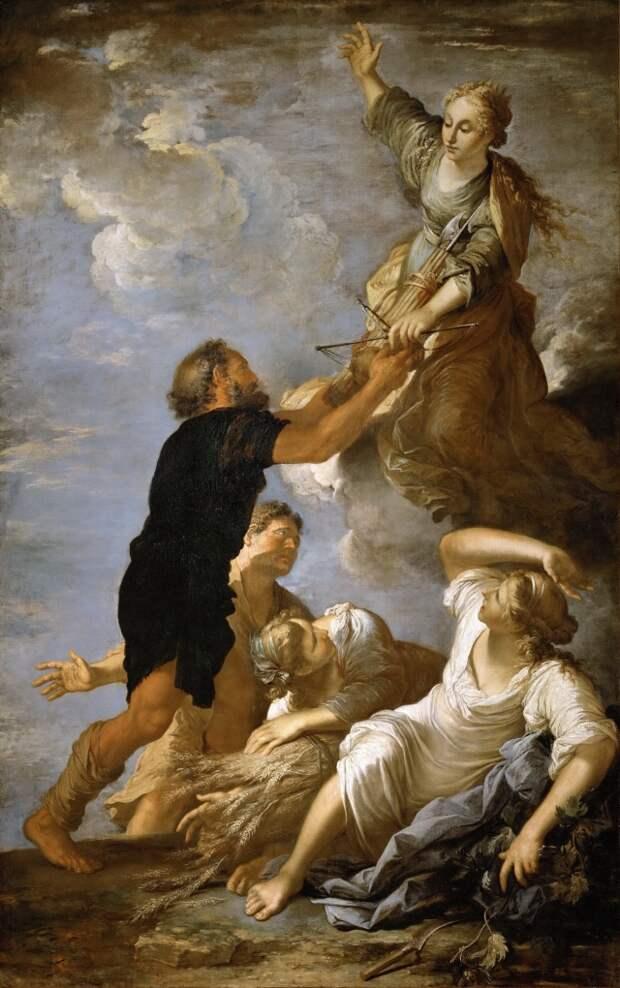 Сальваторе Роза. Богиня Правосудия Астрея покидает землю. 1665 г