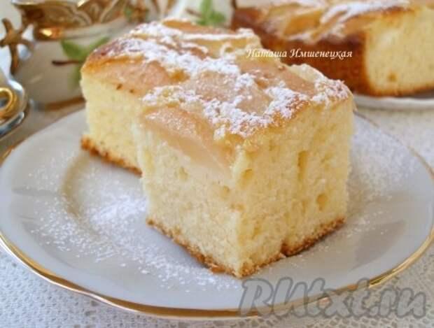Грушевый пирог с йогуртом