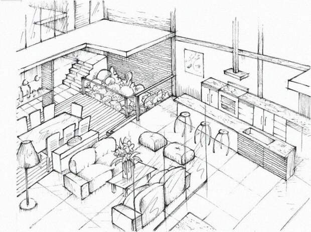 Планировка дома, нарисованная от руки архитектура, в мире, дизайн, дом, склад