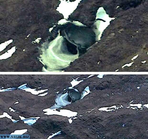 Необъяснимые объекты, обнаруженные в Антарктиде