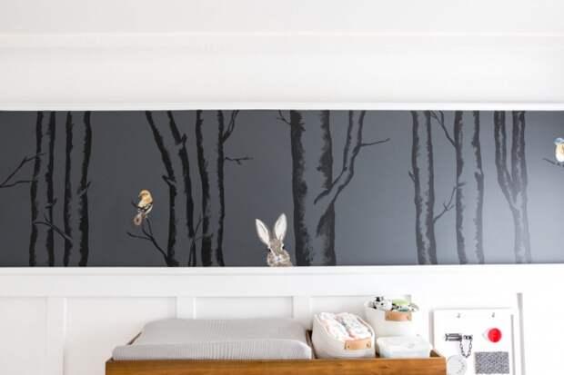 оригинальная стенка в детскую комнату декор своими руками