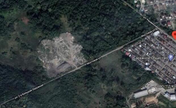 В парковой зоне Калининграда обнаружили незаконную свалку размером с два футбольных поля