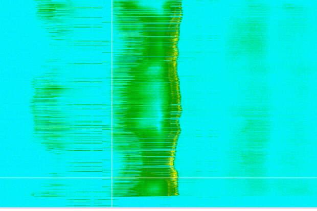 В центре чашка воды, излучение от 2,4 до 2,4 МГц