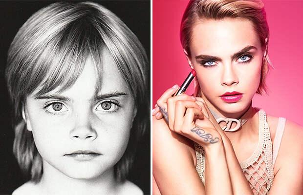 Знаменитые фотомодели в детстве
