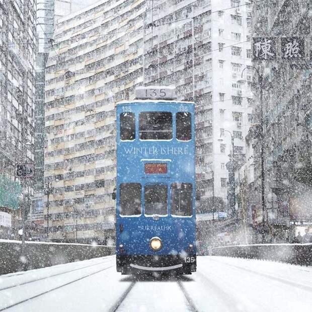 18. Зима пришла! Томми Фанг, гонконг, забавно, талант, фантазия, фото, фотошоп, художник