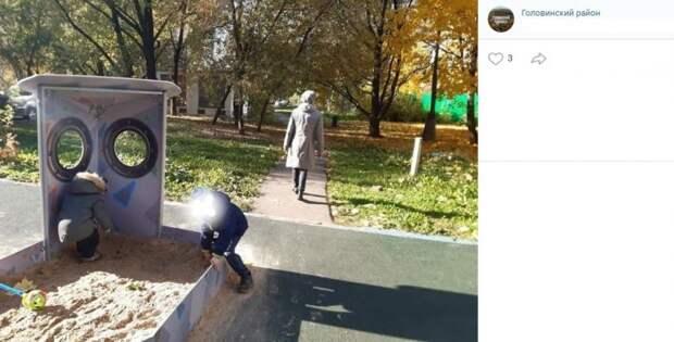 Детская площадка в Ховрине проходу не мешает — управа
