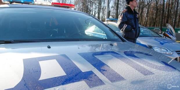 На МКАДе произошла авария с тремя машинами