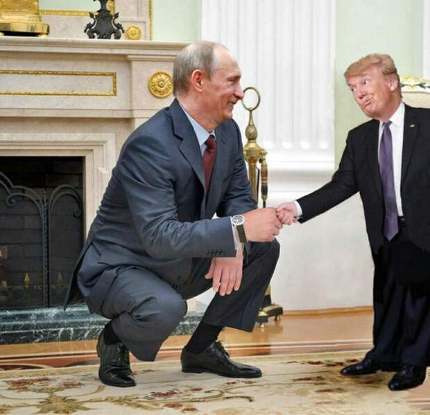 Карикатуры на Трампа с участием президента России