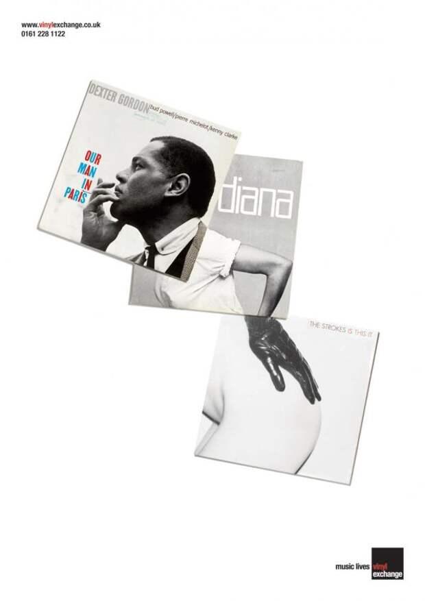 Vinyl Exchange: Dexter, Vinyl Exchange, Propaganda, UK, Печатная реклама