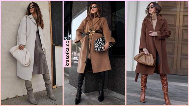 Как носить пальто с ботфортами: правила, табу и 18 модных примеров