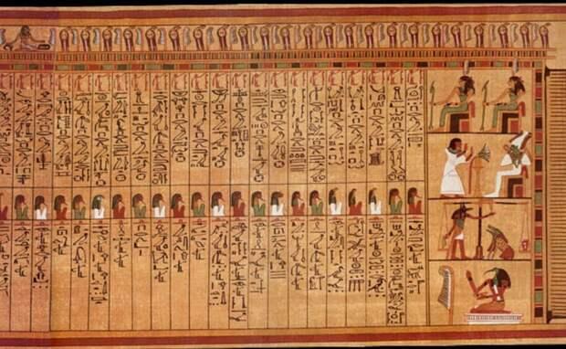 Часть папируса Ани. Датируется 13 веком до н.э.