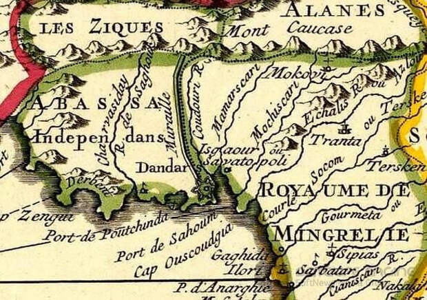КЕЛАСУРСКАЯ СТЕНА – историческая граница между Черкессией и Мегрелией