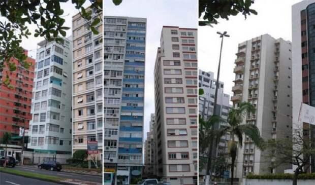 Жители Сантоса вынуждены проживать вот в таких «падающих» домах (Бразилия). | Фото: rc-cafe.blogspot.com.